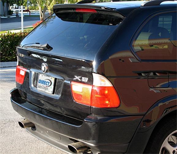 1999-2005 BMW X5 Euro Style Rear Hatch Center Lip Spoiler