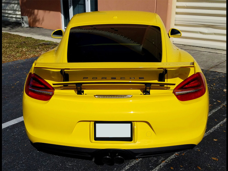 2013 2016 porsche cayman gt4 style rear wing spoiler. Black Bedroom Furniture Sets. Home Design Ideas