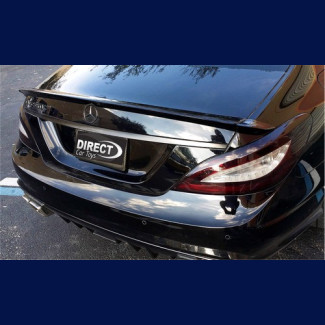 2011-2017  Mercedes Benz CLS Linea Tesoro Rear 3pc Trunk Lip Spoiler