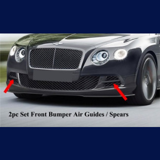 2012-2015 Bentley Continental GT W12 Air Guides Spears (Set)