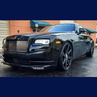 2017-2018 Rolls-Royce Wraith Tesoro Front Bumper Lip Spoiler w/L.E.D