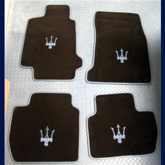 2007-2017 Maserati GranTurismo 4 Piece Custom German Velour Front & Rear Floor Mats