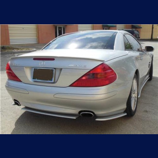 2002-2011 Mercedes SL Euro Style 3pc Rear Bumper Skirt