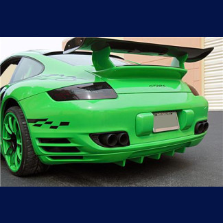 2006-2008 Porsche 911 / 997 Turbo Euro Sport Rear Skirt With Diffuser