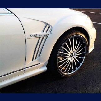 2007-2012 Mercedes S-Class W-Style Front  Fender (Set)