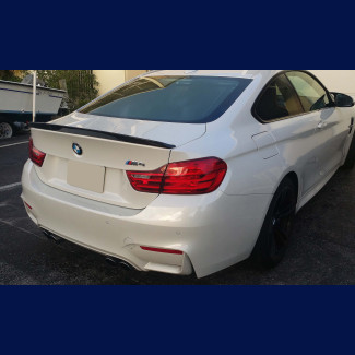 2014-2017 BMW 4-Series M4 Factory Style Rear Lip Spoiler in Carbon Fiber