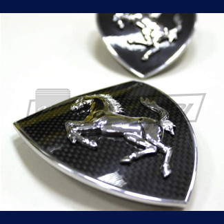 2016-2017 Ferrari 488 GTB / Spider Fender Shield Scudetto Set (Carbon Fiber)