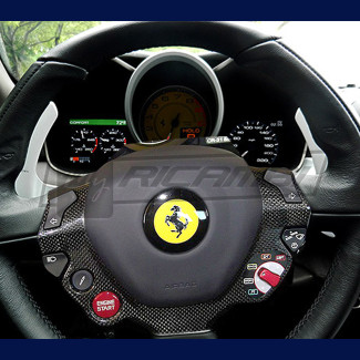 2016-2017 Ferrari 488 GTB / Spider Steering Wheel Cover (Carbon Fiber)