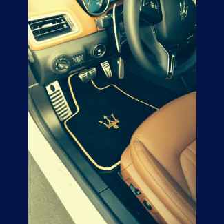 2014-2017 Maserati Ghibli German Velour Front & Rear Floor Mats