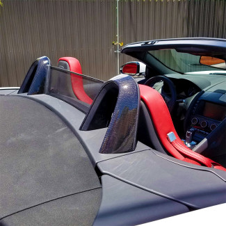 2014-2016 Jaguar F-Type Convertible Roll Bar Covers / Hoop Caps - Carbon Fiber