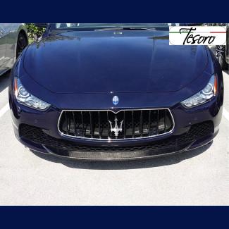 2014-2017 Maserati Ghibli Real Carbon Fiber Front Bumper Lip Cap / Cover Spoiler