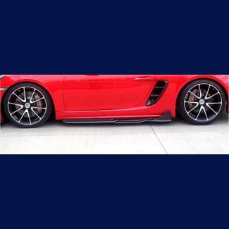 2017-2018 Porsche Boxster Compworks 4pc Side Skirt Rockers (Carbon Fiber)