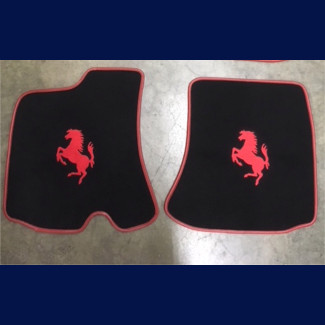 2018-2019 Ferrari Portofino Custom German Velour Floor Mats (2pc Set)