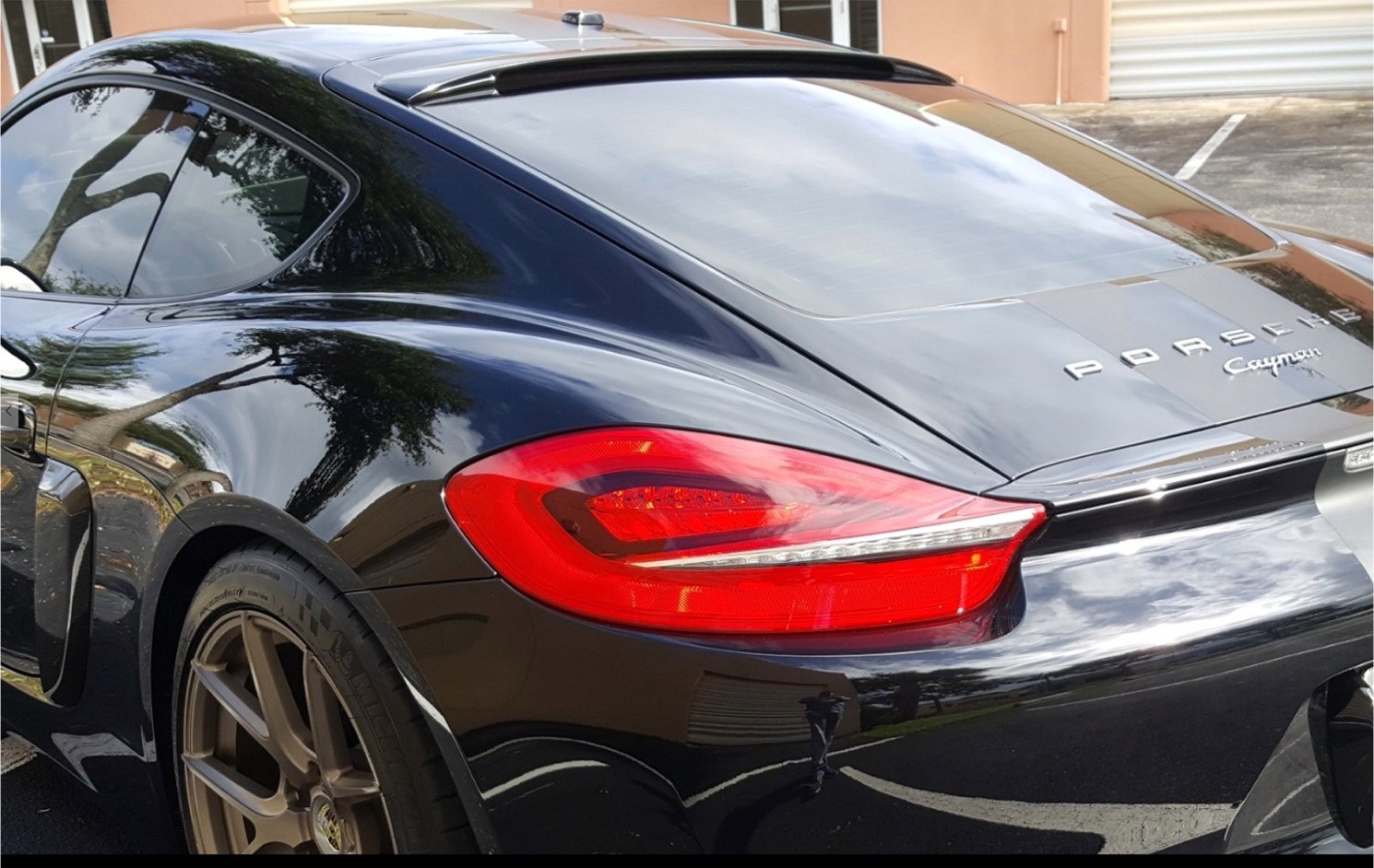 2013 2016 porsche cayman tuner style rear roof glass spoiler. Black Bedroom Furniture Sets. Home Design Ideas