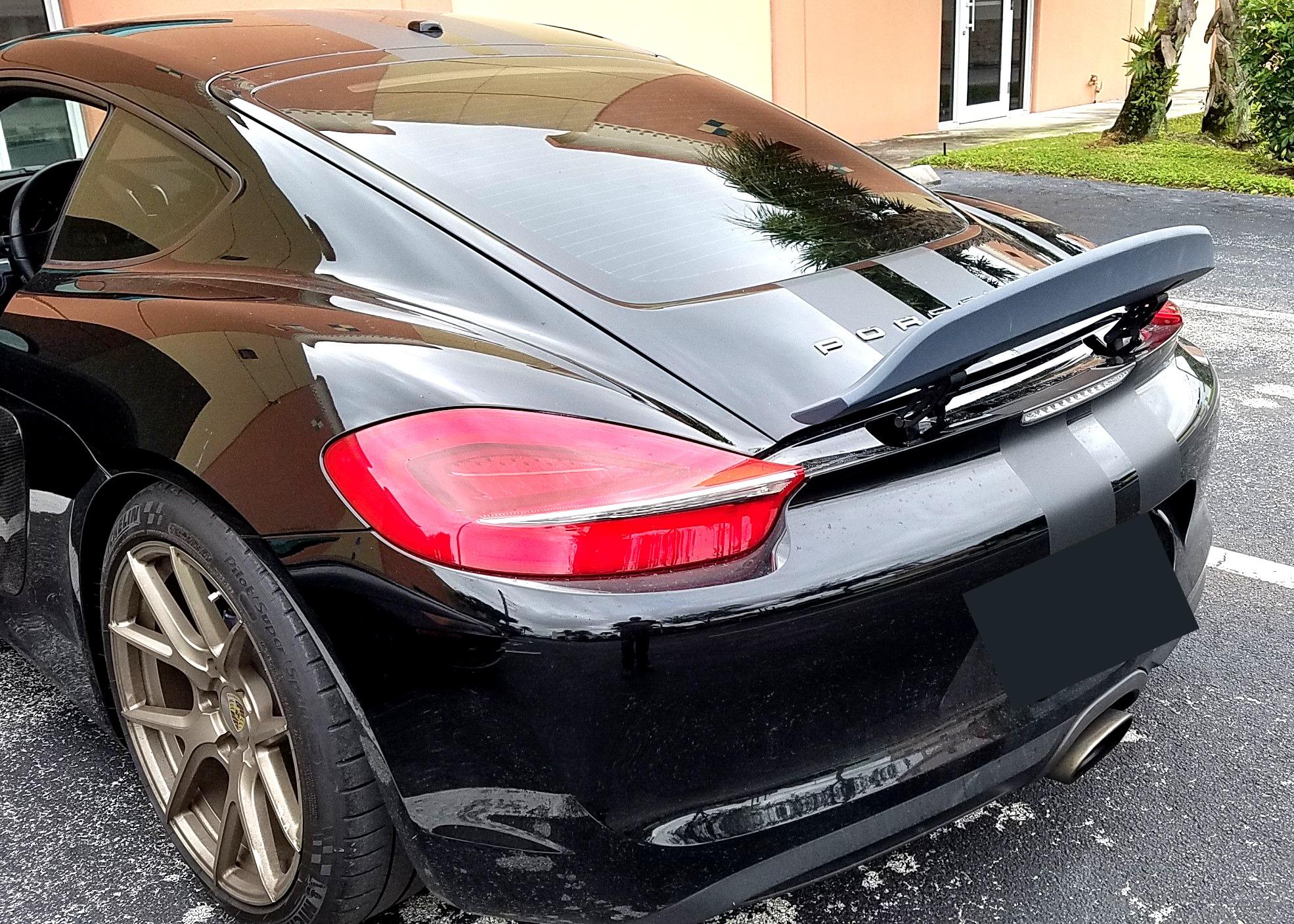 2013 2016 Porsche Cayman Ducktail Rear Wing Spoiler