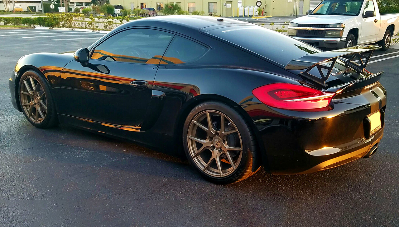 2013 2016 porsche cayman gt style rear wing spoiler be the first to review this product publicscrutiny Gallery