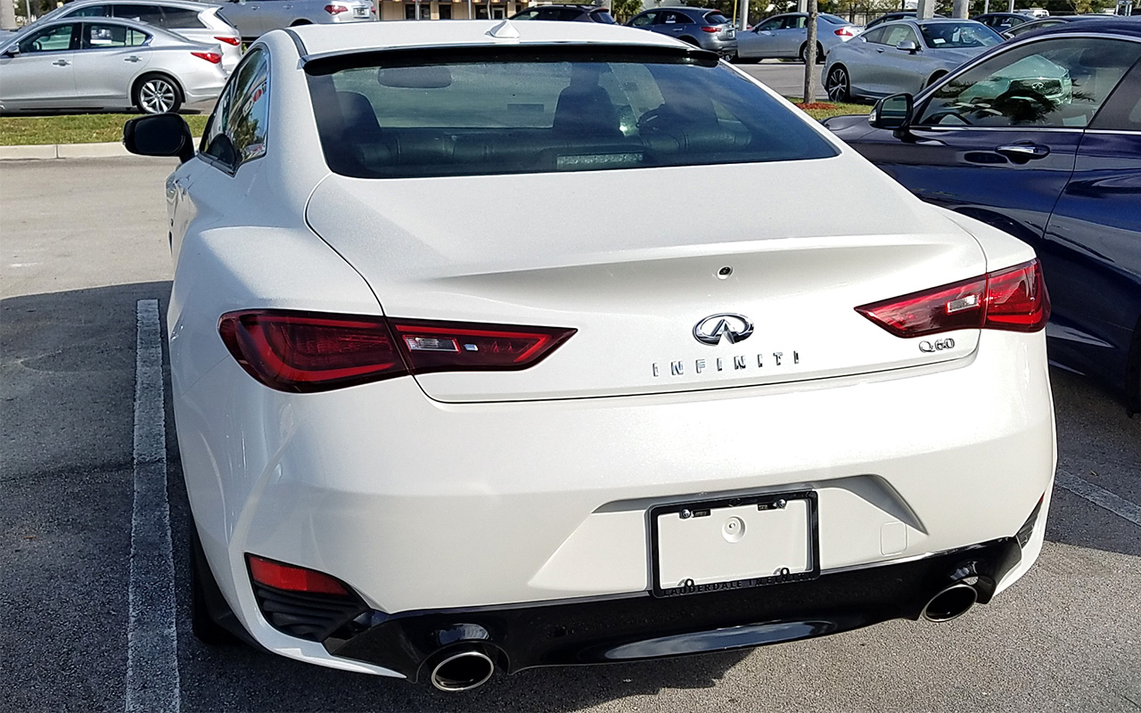 2016 2017 Infiniti Q60 Coupe Tuner Style Rear Roof Glass